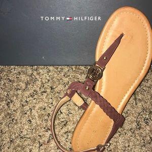 Tommy Hilfiger: Dark Red LL Sandals